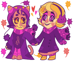 Purple Autumn - SpiritDay Roxy and Nepeta Pixel by PONYPUKE