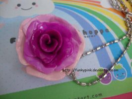 purple rose necklace by funkypink