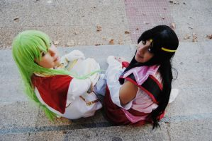 Code Geass - C.C. and Kaguya by YumiAznable