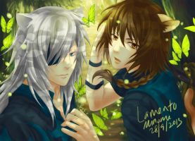 Lamanto ~ Rai and Konoe by Minoru--chan