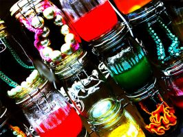 . Jewels in jars . by Filly777
