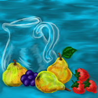 Glass jar and fruit by December012
