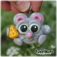Polymer Clay Mouse by KIMMIESCLAYKREATIONS