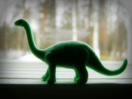 window dinosaur II by i-see-faces