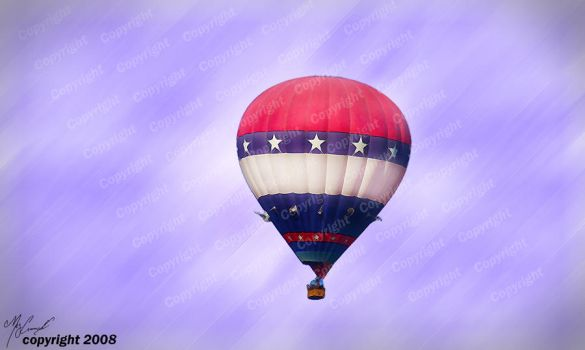 Patriotic Balloon by the-shutterbug