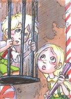 Hansel and Gretel Art Card by kevinbolk