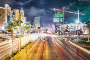 Las Vegas Strip from above by Torsten-Hufsky