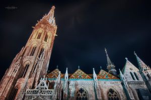 Budapest Catholic Church 2 HDR by Creative--Dragon