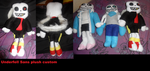 Underfell sans custom plush by AshleyFluttershy