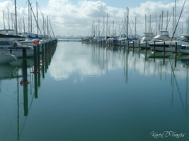 Harbour Reflections by KarenDFrancis