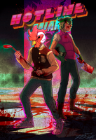 Richard and Biker||Hotline Miami FanArt by CrazyParrotDrun