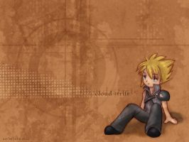 cloud strife wallpaper by joulee