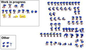 Female Sonic sprites 2.6 by mechaelite