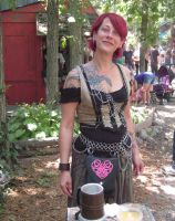 Red Hair Chain Maille and Knot Work by Dygyt-Alice