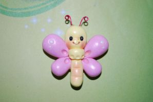 Babu butterfly magnet by Libellulina