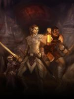 dungeon delve by wood-illustration