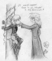 sketch-- Marluxia x Repliku by ssceles