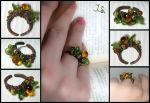 Asymmetrical ring Ripe berries by JSjewelry