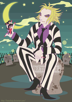 Beetlejuice and Lydia by Kaosshojo