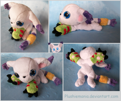 Gatomon Beanie Plush by PlushieMania