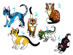 Cat adoptables (OPEN) by Paintlicious