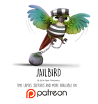 Daily Paint 1461. Jailbird by Cryptid-Creations
