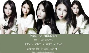 PNG IU RENDER BY SU GROWL by suetics