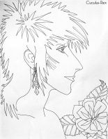 Ziggy Stardust Colouring Page by The-Anglophile