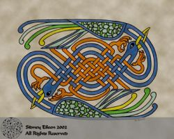 Celtic Knotwork Cranes by sidneyeileen