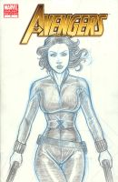 Black Widow Avengers Sketch Cover by Nortedesigns