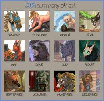 2009 Art Summary by Shadow-Wolf