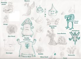 Dragon Warrior Sketches by masterclif