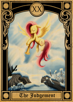Pony Tarot Cards: Fluttershy as the Judgment by SouthParkTaoist