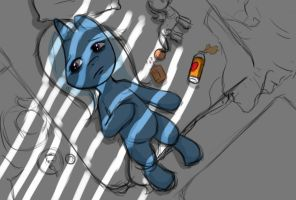 Trixie Alone - Sketchy version by Raph13th