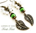 GARDEN OF EDEN -  Bronze Necklace and Earrings Set by crystaland