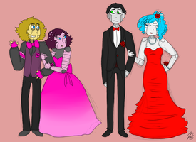 Steam Powered Prom Night by rosemaryleaves