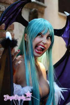 Morrigan Aesland backstage 2 by Giorgiacosplay