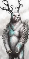 Bear god by Marcodalidingo