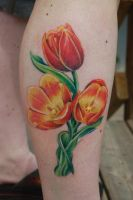 tulip by nakedarttattoo