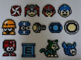 Mega man Items,Enemies and Companions by MegaSparkster