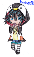 Chibi Penguin Girl by DOLLce13