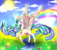 Celestia the ruler of the sun by AquaGalaxy
