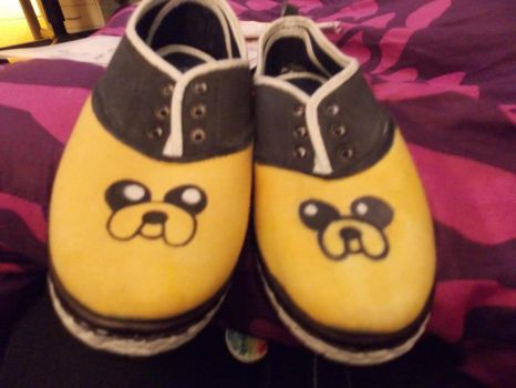 Jake the Dog shoes by KeilidhB
