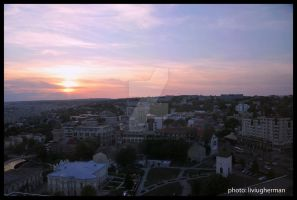 Sunset over the Iasi City by liviugherman