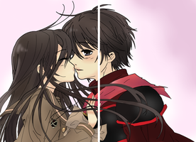 Shana and Yuji Kiss by xEpicness