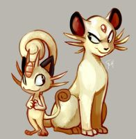 Day 22 - Meowth, PERSIAN by SpaceSmilodon