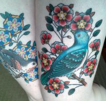Blue Bird Tattoo by kittyelixir