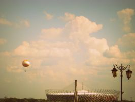 The ballon and stadium by L-JustinePhotography