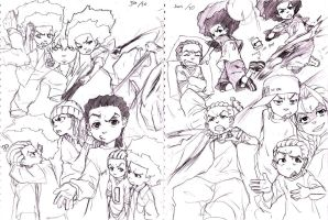 Boondocks sketches 2 by joodlez