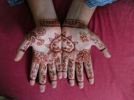 Henna on Hands by kimmkhaira